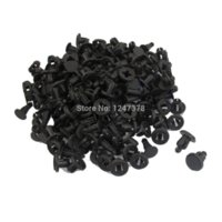 100 pcs lot 7mm Hole Car Interior Door Trim Clips Black Plas...