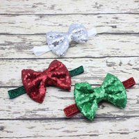 Hot Sale Christmas Baby Headband Cute Bow Newborn Girls Shin...
