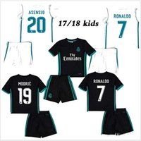 New 17 18 Real Madrid kids soccer jersey kits child jerseys ...