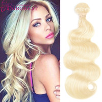 Honey Blonde Brazilian Body Wave Human Hair Wefts with lace ...