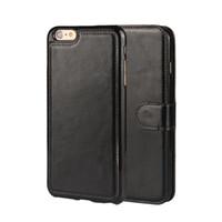 2 в 1 магнитный магнит съемный съемный кошелек кожаный ретро крышка для iPhone SE 5 5S 6 6S 7 плюс Galaxy S8 Plus