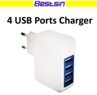 Universal EU US- stoket 4 Port in 1 micro USB power adapter H...