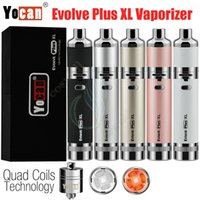 Kit de vaporizador Yocan Evolve Plus XL original Cera Herbal Dry Herbal QUAD Bobinas 1400mAh Tarro de silicona doble incorporado Vape Pen e cigs Kit de vapor