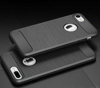 carbon fiber soft TPU armor case with wiredrawing design for...