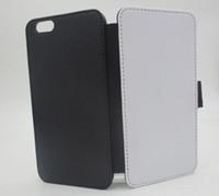 2D Sublimacja Puste Skórzane Przypadki okładki Skóra z magnesem i gniazda kart do iPhone 7 plus 6 plus 100 sztuk