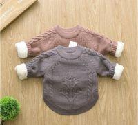 Neue Marke Herbst Winter Kinder Pullover Strickwaren Infant / Baby Jungen Mädchen Pullover Kinder Pullover Kind Kleidung Freies Verschiffen