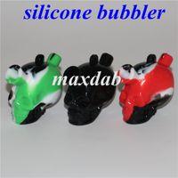 Martian Blunt Bubbler Hookah Mini Bongs Tubos de agua Pequeño Pipa Silicona Fumar Burbuja