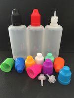 Plastik-Saft-Flaschen PE 120ml-Tropfflaschen mit kindersicheren Flaschenkappen und Nadelspitzen E flüssigen Eye-Dropper-Flaschen