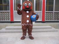 Caliente de alta calidad Real Pictures Deluxe traje de la mascota del hombre de pan de jengibre traje de carnaval de fantasía envío gratis