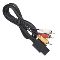 3RCA 1.8м 6FT AV TV RCA видео кабель кабель для игры куб / для SNES GameCube / для Nintendo для N64 64 Игра Кабель 100 шт