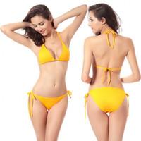 Frauen sexy Bikini Set 2018 Sommer Europa und Amerika Sexy Double Wrapped Brust Zwei Sätze von Strand Badeanzug Bikini Bademode Frauen