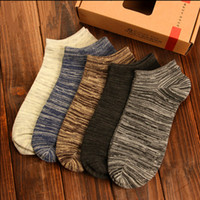 Wholesale- 10pcs=5Pairs Women Men Socks Casual Boat Low Cut ...