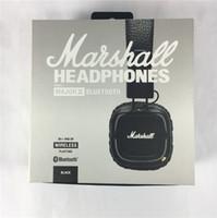 2017 Marshall major 2 Cuffie wireless Noise Cancelling Headset Deep Bass Studio Monitor Cuffie Rock DJ Hi-Fi con scatola microfonica al dettaglio