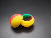 Acessórios de cigarro eletrônico pequena bola não-stick silicone personalizado BHO recipiente de óleo 5.6 ml