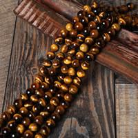 Naturstein Perlen AB + Gelb Tiger Eye Perlen Runde Lose Bead Für Armband Schmuck Machen Pick Größe: 4 6 8 10 12 14mm