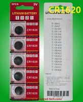 5 개 배터리 2000PCS / 많은 CR1620 3V 리튬 버튼 셀 배터리 코인 전지 팩