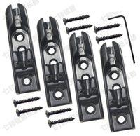 4 cuerdas de aleación de zinc bajo Cuerdas de guitarra puente dividido Puente negro guitarra eléctrica Bajo guitarra piezas de guitarra