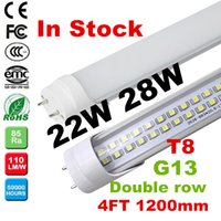 Double row LED T8 Tube 4FT 22W 28W 2800LM SMD 2835 T8 tube L...