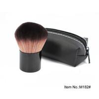 Kabuki 182 Rouge Foundation Blush Brush + Borsa in pelle Tech Brand Cosmetic