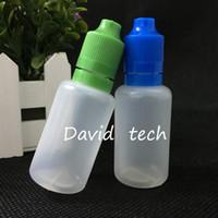 Großhandel 30ml PE leere Flasche 3000PCS 30ml Plastiktropfflaschen Tamper Proof Caps E Vapor Cig Flüssige elektronische Zigarette E cig