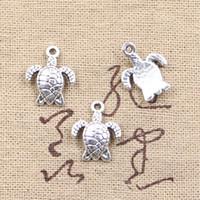 150pcs tortue de charmes tortue 15 * 12mm antiquité faisant ajustement pendentif, argent tibétain vintage, collier de bracelet bricolage