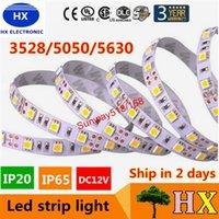 Super Birght 5 M 5050 3528 5630 bandes de LED Chaud pur Blanc Rouge Vert RGB flexible 5M 300 Rouleau 12V extérieur Ruban Leds