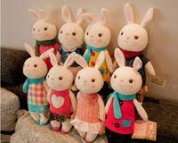 Toptan Satış - Toptan-Tiramisu peluş oyuncaklar Metoo bebek çocuklar hediyeler 8 tarzı, Hediye Kutusu ile 35cm Bunny Dolması Hayvan LamyToy, Doğum Günü Hediyeleri