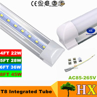 8 ft LED tube T8 Cree LED Fluorescent Tubes SMD2835 Integrat...