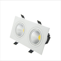 Encastré super lumineux LED Dimmable 2 tête carrée Downlight COB 10W 14W 18W 24w LED Spot plafonnier AC 110V 220V
