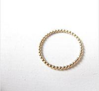 Anello impilabile sottile con perline anello in oro, anello in oro con sottile anello in oro 18 carati per signora è il miglior regalo