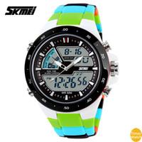 2016 SKMEI F 1016 montre électronique multifonctions imperméable à l'eau et aux chocs couple masculin et féminin surfant sur les sports extrêmes hommes montres