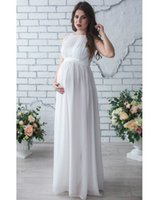 New Maternity Photography Props Dress Pregnancy Sleeveless C...