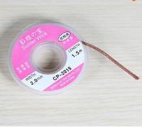 CP-2015 2.0mm 디 솔더링 브레이드 납땜 제거제 위크 액세서리 0.75m 무료 배송