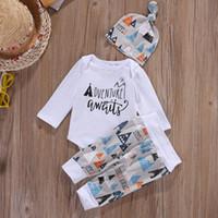 Großhandels-Kinder Baby-Jungen-Mädchen-Kleidungs-gesetzte nette Säuglingsoberseiten-Pant Legging-Hut 3pcs nette Ausstattungen stellten Kleidung ein