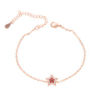 mix three color pink red blue cute small enamel star connect...