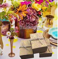 FREIES VERSCHIFFEN 50 STÜCKE Herbst Herbst Kraft Gold Maple Leaf Bevorzugungskästen Hochzeit Gastgeschenke Brautdusche Hochzeit Empfang Decor