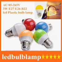 Free shipping Led bulb lamp Plastic Bulb 3w SMD free shippin...