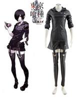 Großhandel-Tokyo Ghoul Touka Kirishima Ghouls Kampfuniform Anime Cosplay Kostüm Freies Verschiffen