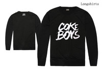 2018 nuovo arrivo hiphop uomini e donne manica lunga tshirt cokeboys amore manica lunga maglietta streetwear stile hip hop prezzo all'ingrosso sciolto