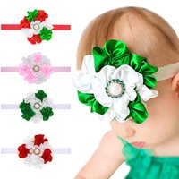 Christmas Headbands Xmas Girls Hairband Ribbon Elastic Baby ...