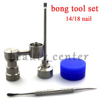 Bong Tool Set 90 degree 14mm 18mm Domeless Gr2 Titanium Nail...
