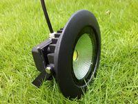 라운드 10W COB LED 투광 램프 IP65 AC 85-265V 야외 풍경 벽 세척 램프 블랙 10Watt 홍수 조명 화이트 쿨 화이트 조명 CE를 따뜻하게