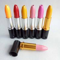 Magiczna szminka Mini Przenośne metalowe Rury do palenia Rury tytoniowe Kolory Rury aluminiowe Narzędzia Akcesoria Miska Narzędzia