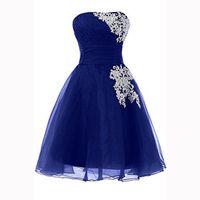 Einfache kurze Heimkehrkleider Juniors Royal Blue Long Dresses Afrikanische Parteikleider Vestidos Formatura Graduacion 2016