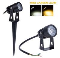 9W البسيطة LED الإضاءة أضواء حديقة المناظر الطبيعية waterpoof في الهواء الطلق الإضاءة لاعبا اساسيا DC12V 85-265V الأبيض / الدافئة الابيض