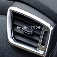 Copertura cromata della presa della presa di sfiato di condizione dell'aria di Chrome dell'ABS per 2015 2016 Accessorio di designazione automatica di Nissan Qashqai J11