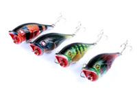Novo colorido pintado laser popper isca 7.5cm 7.8g Natação profundidade 0.2-0.6m flutuante pescador de água doce de água doce artificial