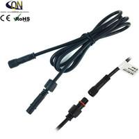SCHWARZES 2PIN 1meter IP67 imprägniern Verlängerungskabel / schließen Sie Draht / Netzkabel für einfarbiges LED-Licht freies Verschiffen an