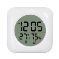 Mode blanc lcd neuve eau imperméable douche salle de bain murale thermomètre thermomètre hygromètreètre moniteur moniteur humidité