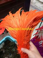 Gratis verzending 100 stks / partij 12-14inch oranje pik veer losse haan coque feather losse Halloween feather decor